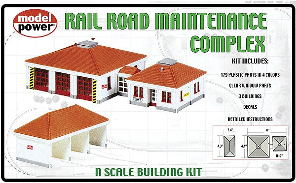 Model Power 490-1584 Railroad Maintenance Buildings 3 Pack Kit N Scale