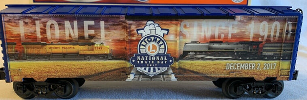 Lionel 6-84621 National Lionel Train Day 2017 features Union Pacific Diesel and Steam Locomotives