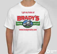 Brady's T-Shirt I got my trains at Brady's