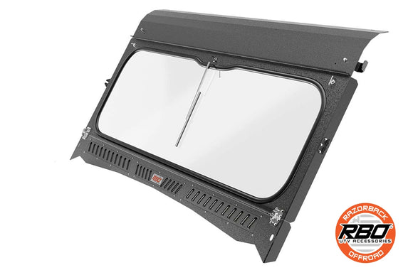 2015 – Current | Kawasaki Mule Folding Front Windshield by Razorback Offroad