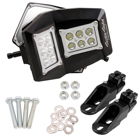 Sector Seven Ultimate Light/ Mirror Spectrum with Bung Mount - Polaris General & RZR