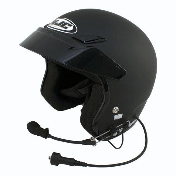 HJC CS-5N Open Face Wired DOT Helmet by PCI Race Radios