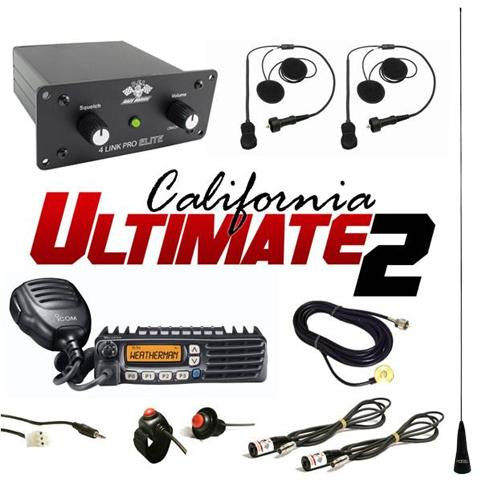 Elite California Ultimate 2 (2 Person intercom and radio kit) by PCI Race Radios