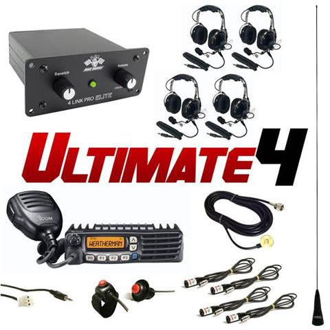 Ultimate 4 (4 Person intercom and radio kit) by PCI Race Radios