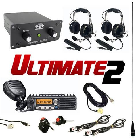 Ultimate 2 (2 Person intercom and radio kit) by PCI Race Radios