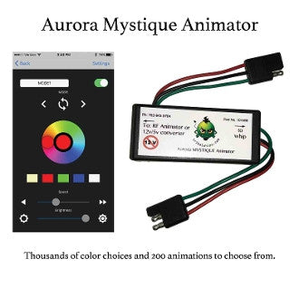 Aurora Mystique 2.0 Bluetooth LED Whip Animator by Tribal Whips