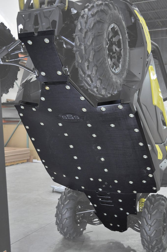 SKID PLATE WITH BUILT-IN ROCKERS | CAN-AM MAVERICK TRAIL BY SSS OFF-ROAD