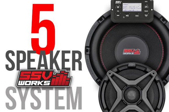 POLARIS RZR XP 1000 AND XP4 1000 COMPLETE SSV WORKS 5 SPEAKER PLUG-AND-PLAY SYSTEM