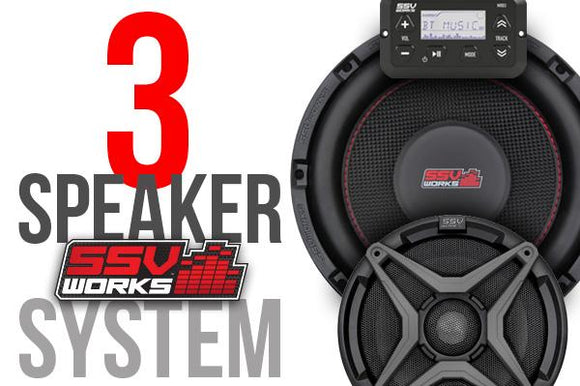 POLARIS RZR XP TURBO AND XP4 TURBO COMPLETE SSV WORKS 3 SPEAKER PLUG-AND-PLAY SYSTEM