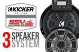 POLARIS RZR XP 1000 AND XP4 1000  KICKER/SSV WORKS COMPLETE 3 SPEAKER PLUG-AND-PLAY SYSTEM
