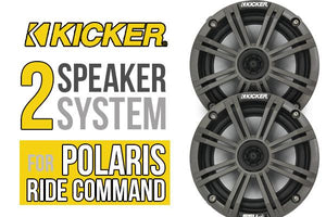 POLARIS RZR XP TURBO S COMPLETE KICKER 2 SPEAKER PLUG-AND-PLAY SYSTEM