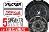POLARIS RZR XP 1000 AND XP4 1000 W/RIDE COMMAND KICKER/SSV WORKS COMPLETE 5 SPEAKER PLUG-AND-PLAY SYSTEM