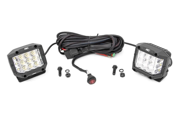 ROUGH COUNTRY 3-INCH WIDE ANGLE OSRAM LED LIGHTS - (PAIR)