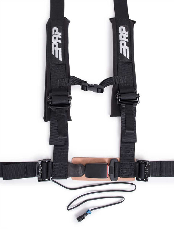 Padded 4.2 Seat Belt Harness Driver Side with Speed Limiter Connection by PRP