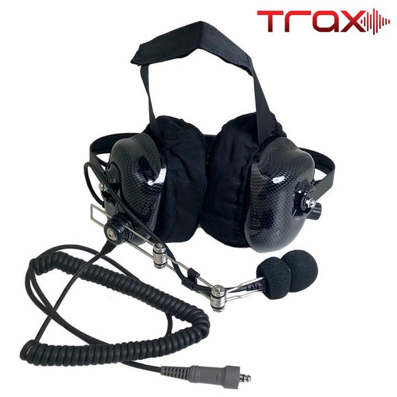 TRAX STEREO BTH HEADSET WITH VOLUME CONTROL by PCI Race Radios