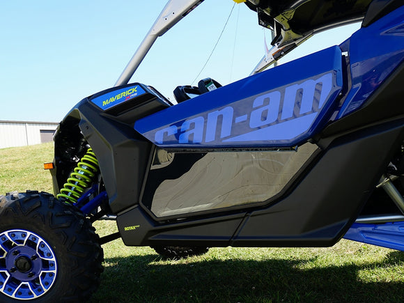 Can Am Maverick X-3 TINTED Lower Door Inserts  - by Spike Powersports