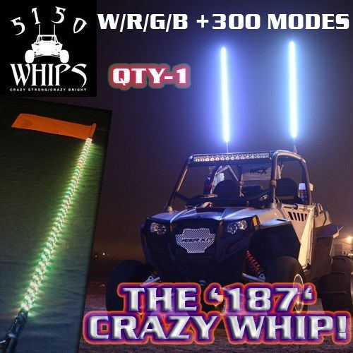 187 CRAZY WHIPS with Magnetic Bases by 5150 Whips