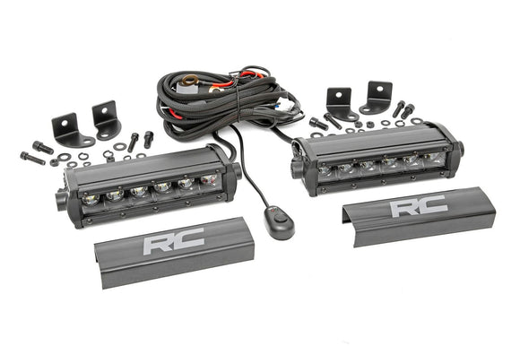 ROUGH COUNTRY 6-INCH CREE LED LIGHT BARS (PAIR | BLACK SERIES)
