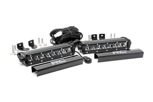 ROUGH COUNTRY 8-INCH CREE LED LIGHT BARS (PAIR | CHROME SERIES)