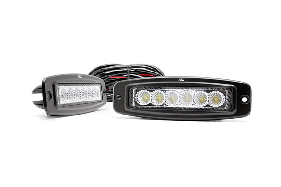 ROUGH COUNTRY 6-INCH FLUSH MOUNT LED LIGHT BARS (PAIR)