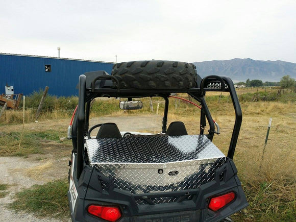 Spare Tire Steel Cargo Racks by Ryfab-RZR