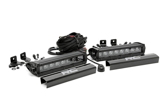 ROUGH COUNTRY 8-INCH CREE LED LIGHT BARS (PAIR | BLACK SERIES)