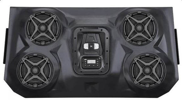 SSV Works Polaris RZR XP4 1000 Bluetooth iPod 4 Speaker Overhead Weather Proof Audio System