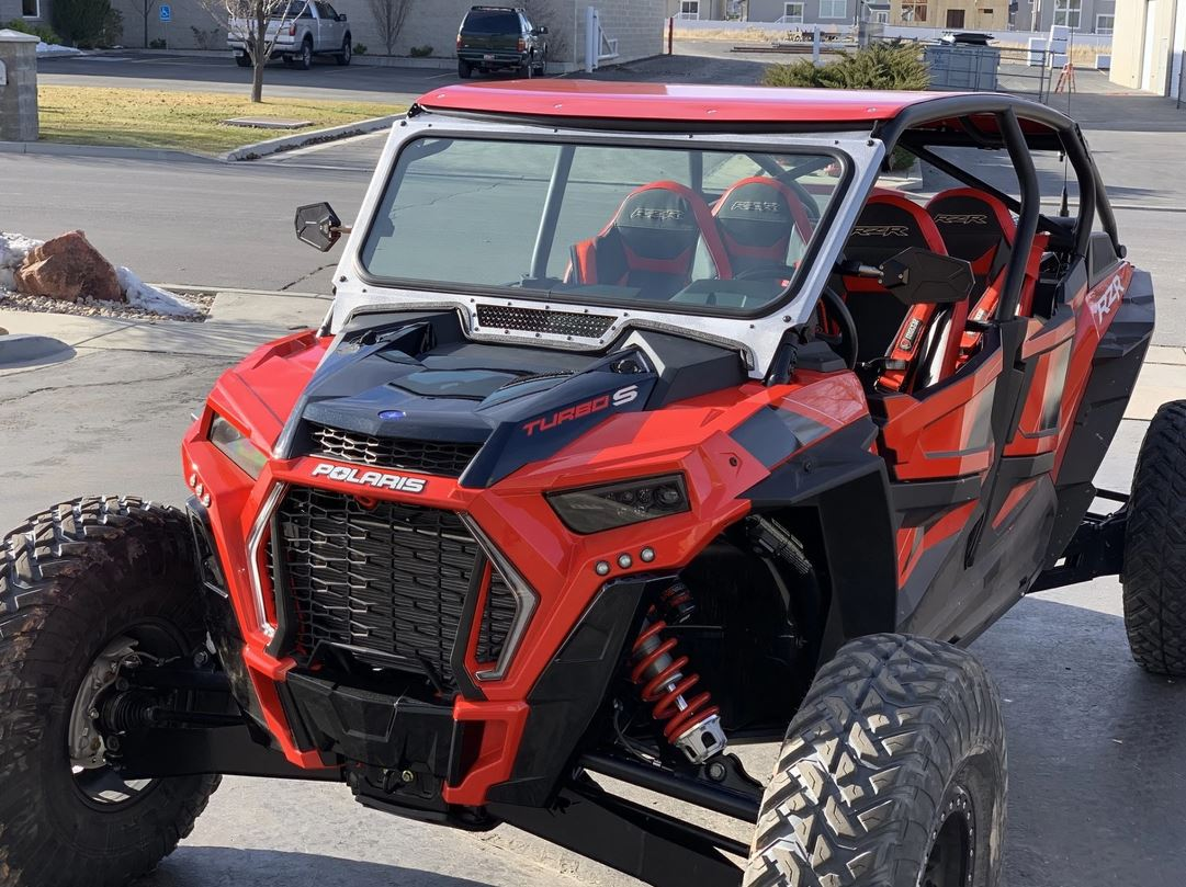 Glass Windshield For Vent Racing Roll Cage By Moto Armor Pro Utv Parts