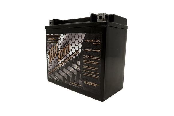 X3 UTVS20L UTV Stereo Platinum Series AGM Battery by UTV Stereo