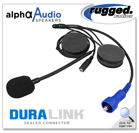 Alpha Audio Offroad Helmet Kit with 3.5mm Ear Bud Jack by Rugged Radios