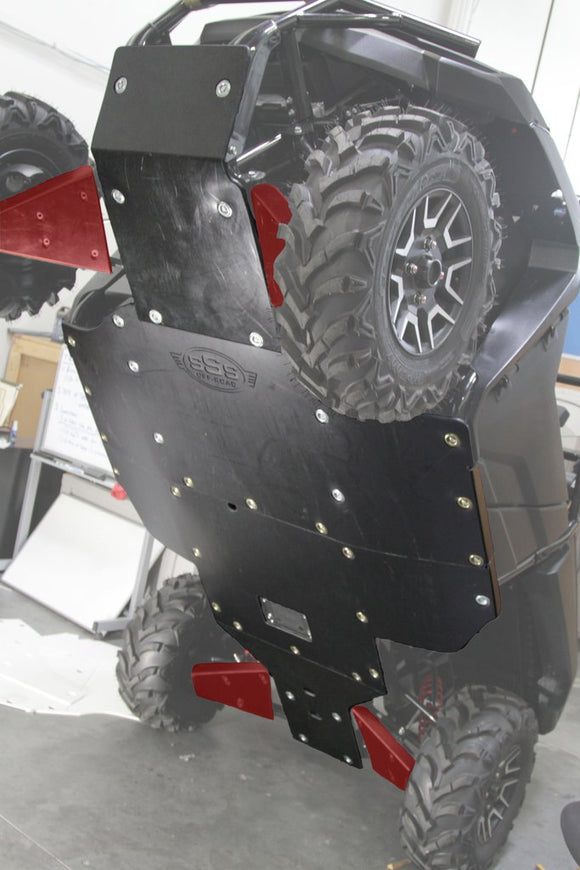 SKID PLATE WITH BUILT-IN ROCKERS | HONDA PIONEER 700 (2 SEATER) BY SSS OFF-ROAD