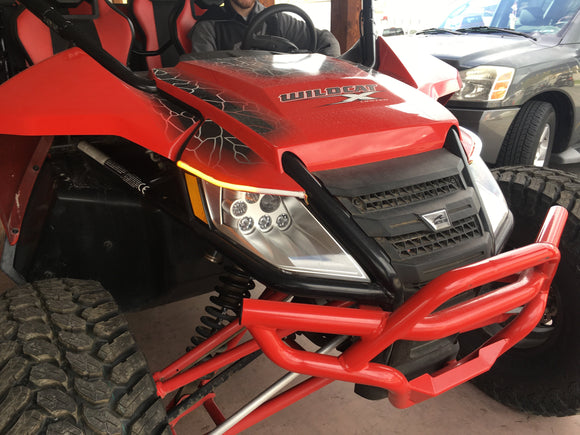Arctic Cat/Textron Wildcat 1000 Integrated Street Legal kit W/ Sequential Turn Signals And Daytime Running Lights by WD Electronics