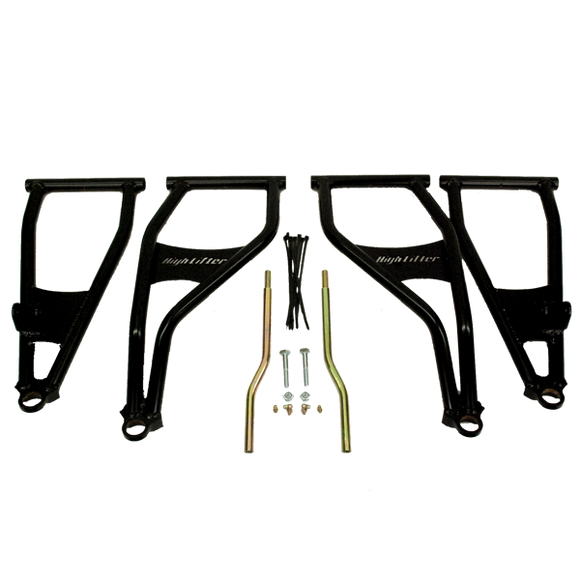 Front Forward Upper & Lower Control Arms Polaris RZR 800 S, 800 4 by Highlifter