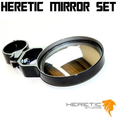 "Heretic 4"" Rear View Mirror Set"