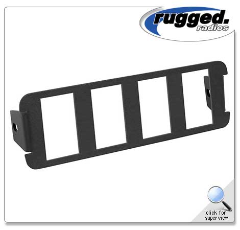 4 Switch Panel for RM-60 Mounts By Rugged Radio