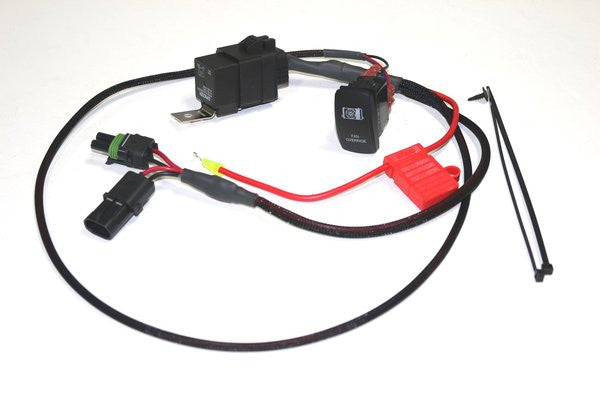 Coolant Fan Override Switch Kit (Plug and Play) for Polaris RZR XP 900 and 1000 by XTC
