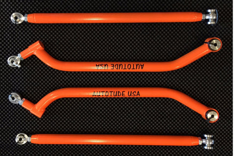 "Autotude ""G2"" Extreme Clearance Heavy Duty CroMo Polaris RZR Upper and Lower Radius Rods"