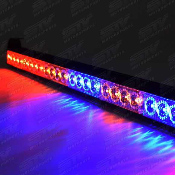 RACING REAR CHASE LED LIGHT BAR 36″ WITH STROBE BLUE AND AMBER LIGHTS by STV Motorsports