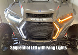 "V2 2019+ Polaris RZR 1000/Turbo Integrated Street Legal Kit with Sequential Switchback (DRL) Front Turn Signals & ""Fang"" Lights by WD Electronics"