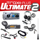Trax Plus Ultimate 2 (2 Person Stereo intercom and radio kit) by PCI Race Radios