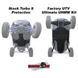 Polaris RZR XP 4 Turbo S Ultimate UHMW Skid Plate Package by Factory UTV