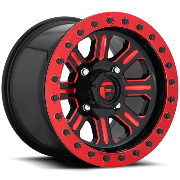 Fuel UTV Hardline (Gloss Black/Candy Red) – D911 – Beadlock