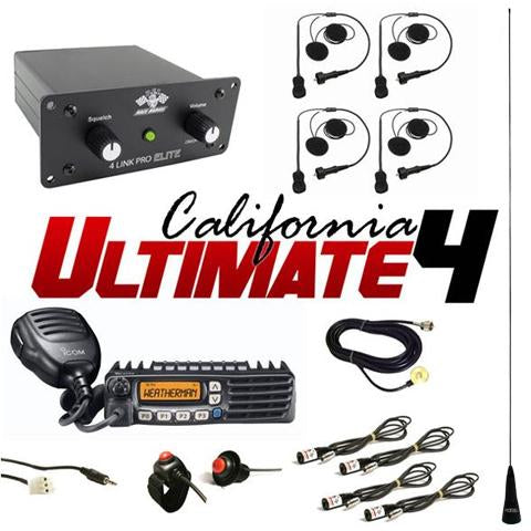 Elite California Ultimate 4 (4 Person intercom and radio kit) by PCI Race Radios