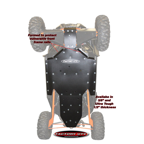 Polaris RZR XP Turbo UHMW Skid Plate by Factory UTV