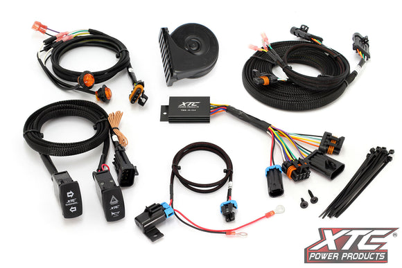 Universal Self-Canceling Turn Signal System with Horn Includes OEM Interface Wires by XTC