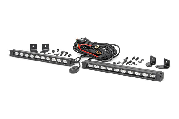 ROUGH COUNTRY 10-INCH SLIMLINE CREE LED LIGHT BARS (PAIR)