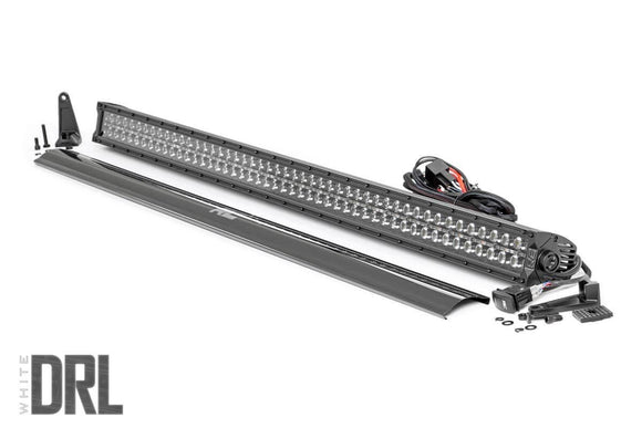 ROUGH COUNTRY 50-INCH CREE LED LIGHT BAR - (DUAL ROW | BLACK SERIES W/ COOL WHITE DRL)