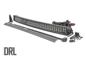 ROUGH COUNTRY 40-INCH CURVED CREE LED LIGHT BAR - (DUAL ROW | BLACK SERIES W/ COOL WHITE DRL)