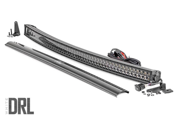 ROUGH COUNTRY 54-INCH CURVED CREE LED LIGHT BAR - (DUAL ROW | BLACK SERIES W/ COOL WHITE DRL)