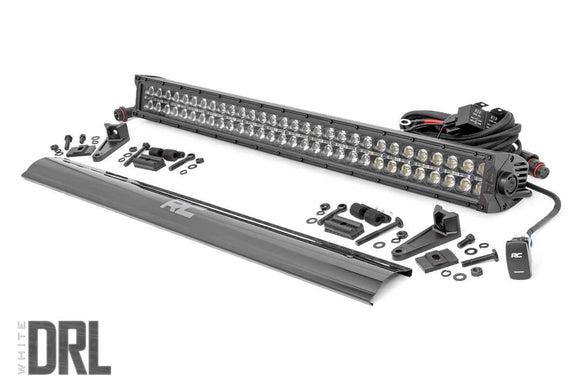 ROUGH COUNTRY 30-INCH CREE LED LIGHT BAR - (DUAL ROW | BLACK SERIES W/ COOL WHITE DRL)